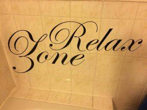 Wandtattoos fürs Badezimmer.